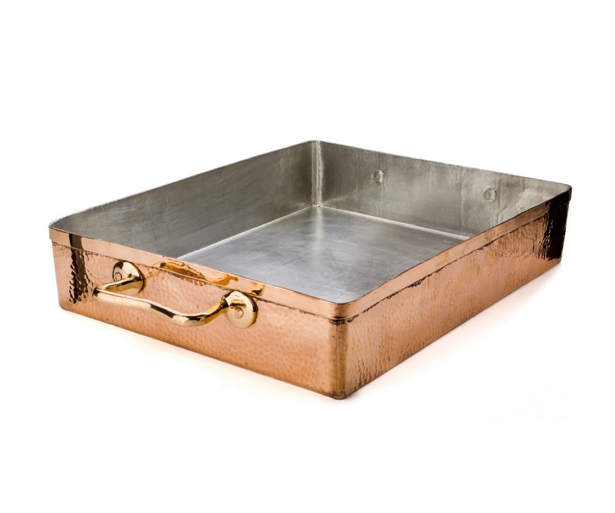 copper roasting pan large - amoretti brothers