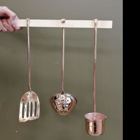 Set of 3 Copper Kitchen Tools - AmorettiBrothers