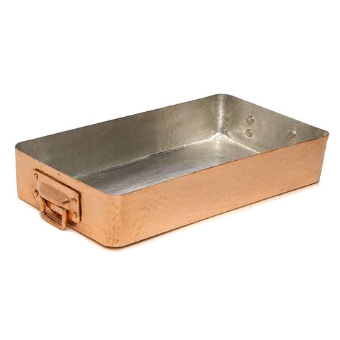 shop the small hammered copper roasting pan by amoretti brothers