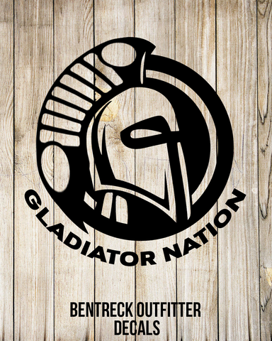 Gladiator Nation Decal