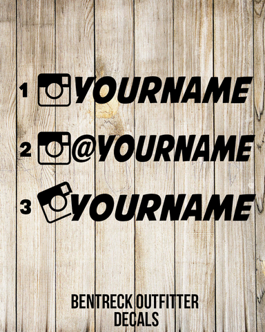Custom Instagram Username Decal