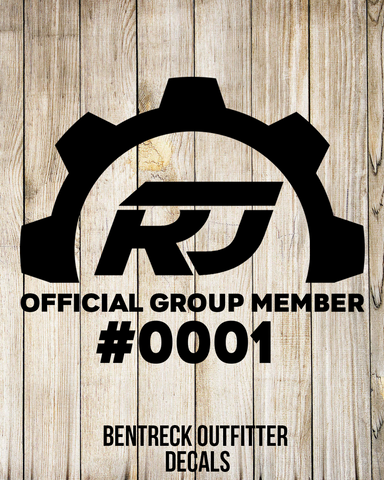 RenegadeJeeps Official Group Member #0001 Decal