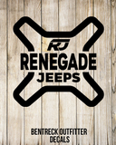 Renegade Jeep X Decal