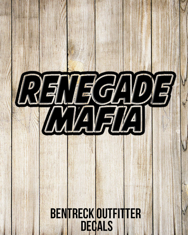 Renegade Mafia Decal