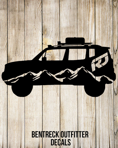 Renegade Mountian Jeep Decal