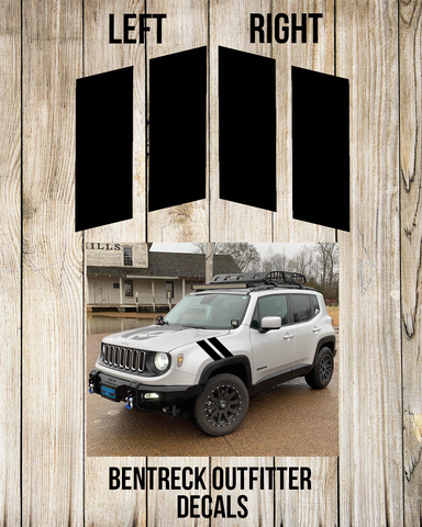 Jeep Renegade Fender Strips Decal