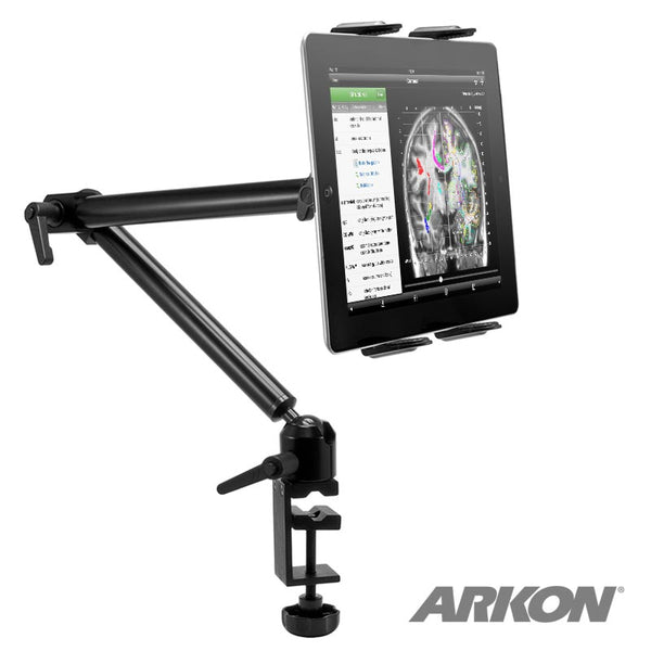 Arkon Heavy-Duty Desk or Wheelchair Tablet Clamp Mount with 22