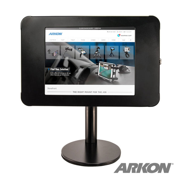 "Arkon iPad Tabletop Stand with 8.5"" Neck and Key Lock for iPad 4, 3, 2, iPad Air 2"