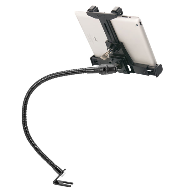 "Arkon Car or Truck Locking Seat Rail Tablet Mount with 23"" Gooseneck and 4-Hole AMPS Head"