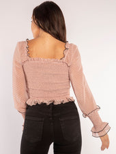 PINK AND POLKA TOP