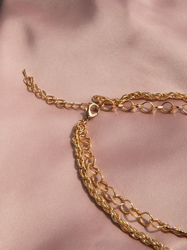 TWO CHAINS NECKLACE