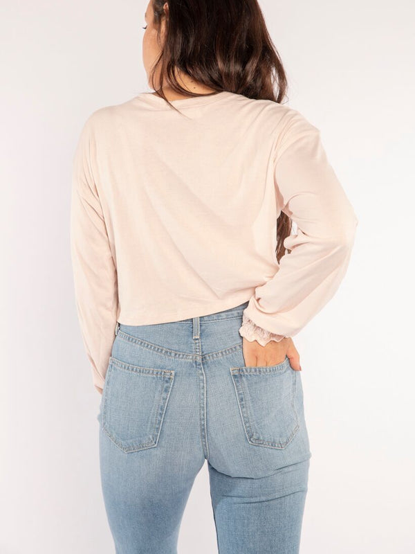 THE AMBER LONG SLEEVE IN DUSTY PINK