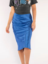 SABRINA MIDI SKIRT IN COBALT