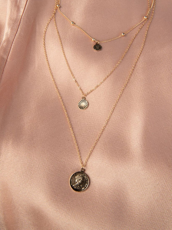 3 COIN NECKLACE