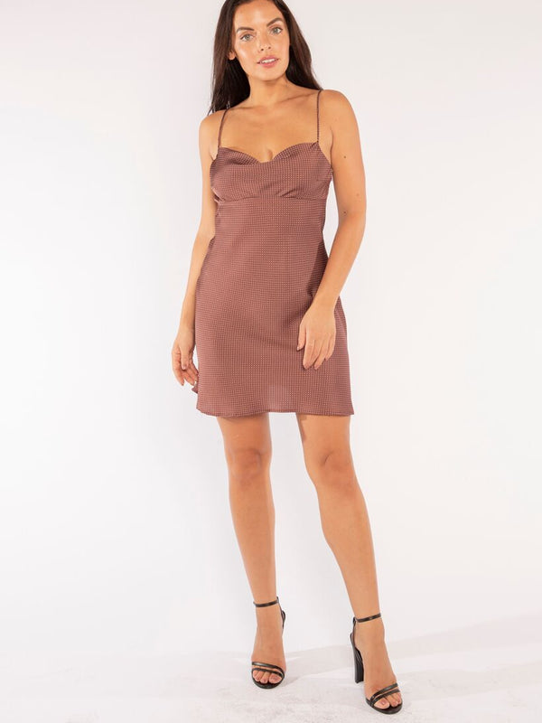 JADE SLIP DRESS IN BROWN