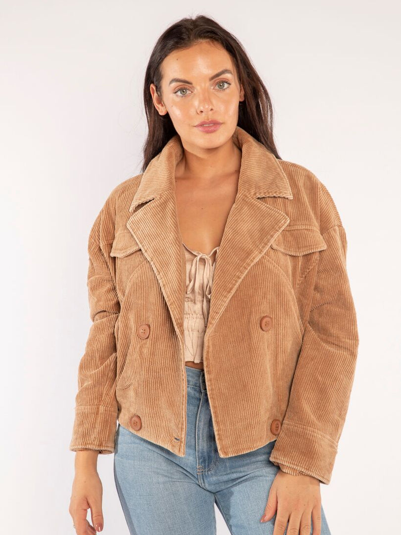 THE CORD JACKET IN TAN