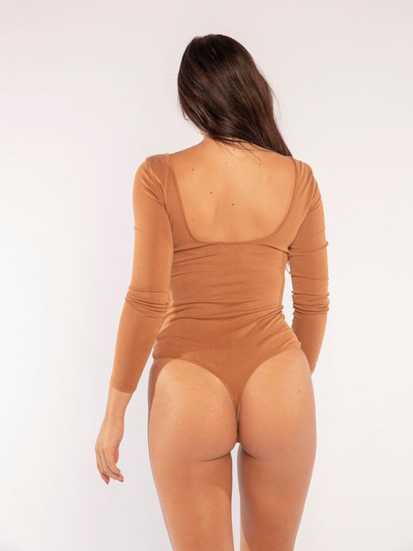 BRIANNA BODYSUIT IN BROWN