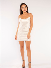 LIFE OF THE PARTY DRESS IN WHITE