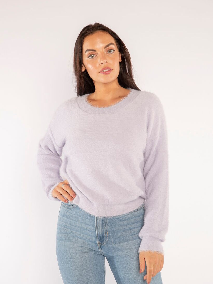 COZY IN LAVENDER SWEATER