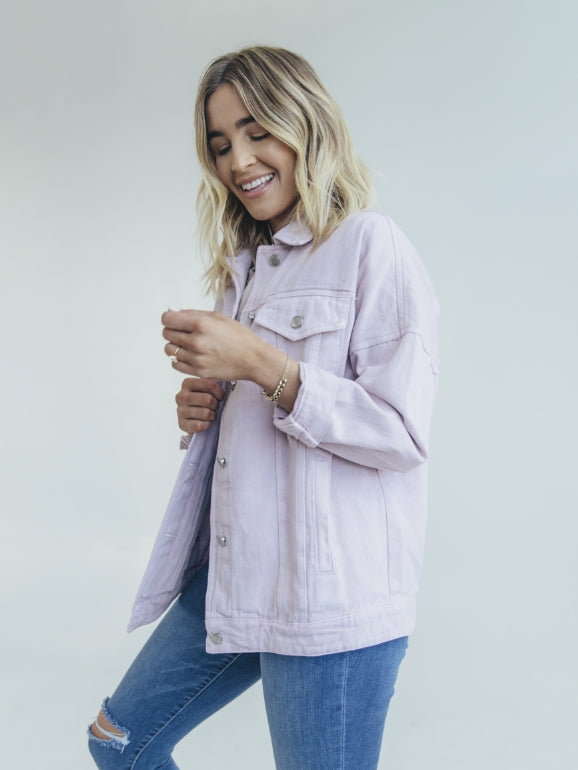 LILAC DENIM JACKET