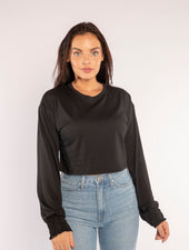 THE AMBER LONG SLEEVE IN BLACK