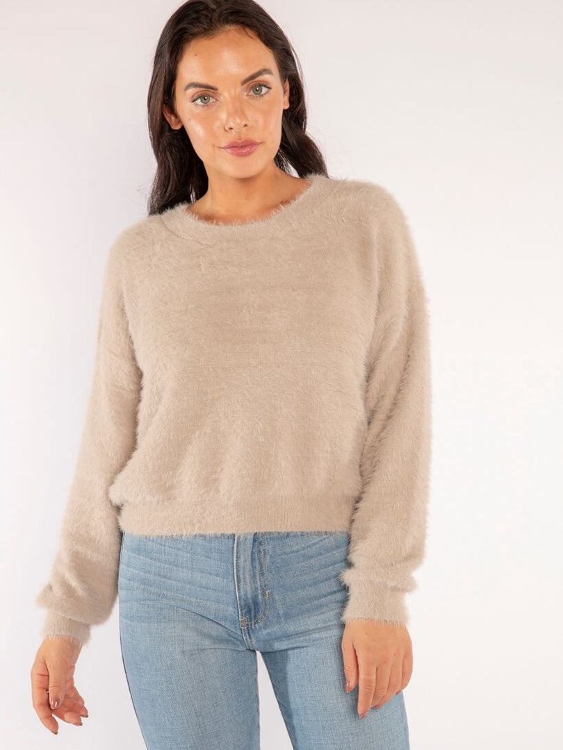 COZY IN TAUPE SWEATER
