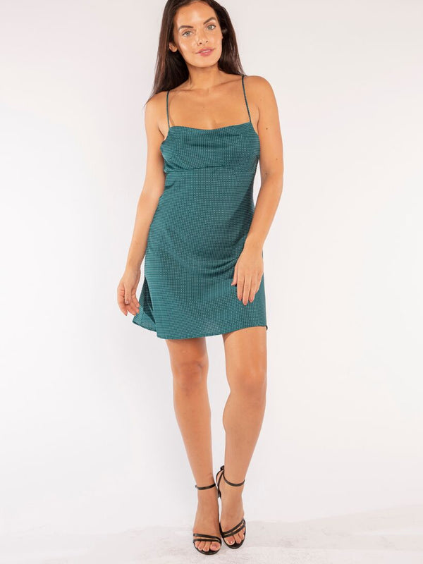 JADE SLIP DRESS IN EMERALD