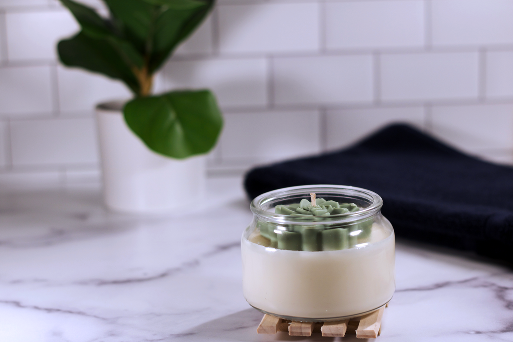 Cactus Flower Candle