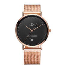 Load image into Gallery viewer, En Pointe - Rose Gold - Date - Quartz Movement - Minimalist Watch 40mm
