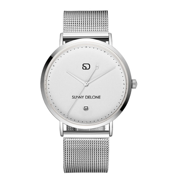 ICE - Silver - Minimalist -  Quartz Movement Watch