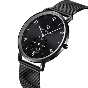 Miyako Noir - Black Face Sub Dial - Quartz Movement Watch 40mm