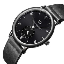 Load image into Gallery viewer, Miyako Noir - Black Face Sub Dial - Quartz Movement Watch 40mm