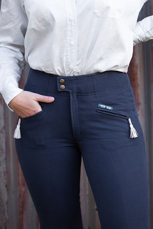 Casual Riding Trousers (Style #263) | Navy - TukTuk Clothing