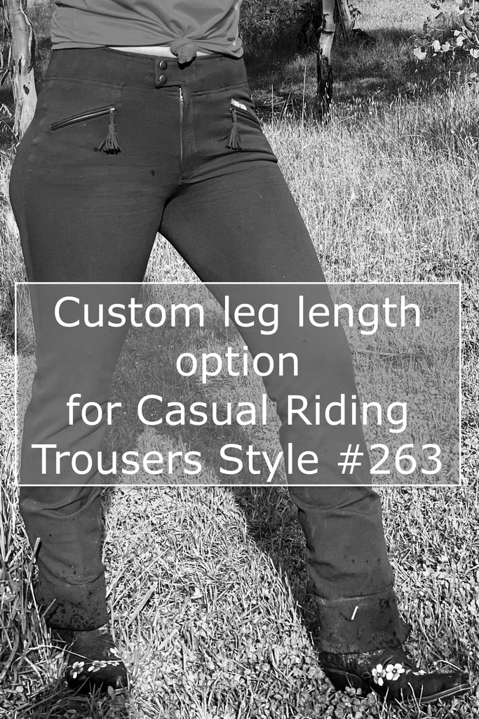CUSTOM LEG LENGTH | Casual Riding Pant (Style 263)| Caramel Check, Navy and Chocolate only - TukTuk Clothing
