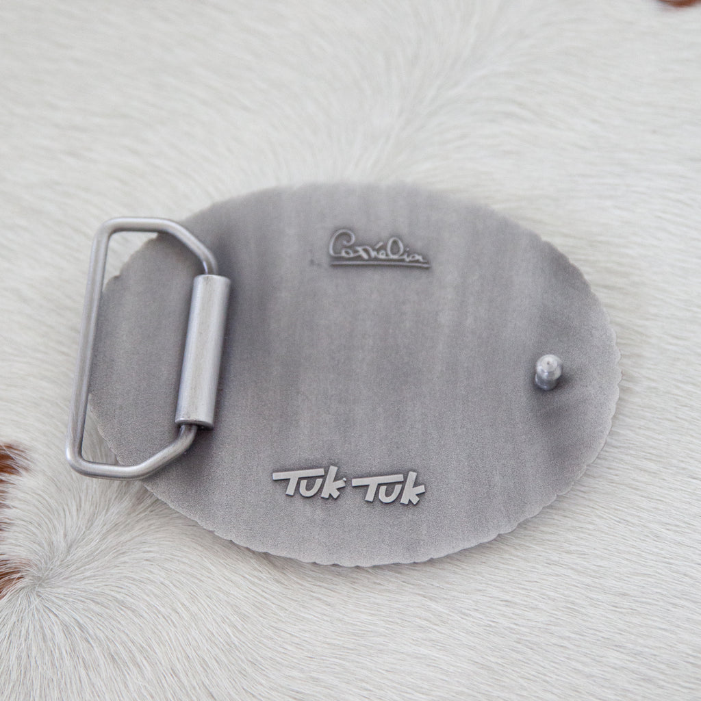 Ted Belt Buckle | Antique Silver - TukTuk Clothing