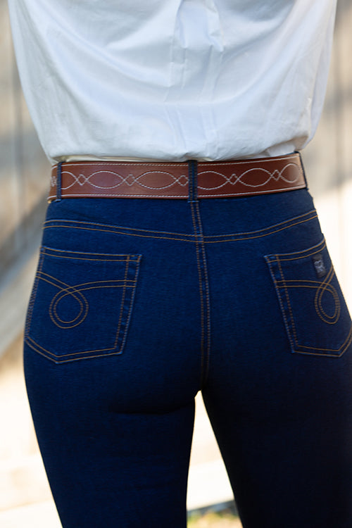 "Ranch Roper| 2"" Herman Oak Leather Belt - TukTuk Clothing"