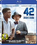 42 Blu-Ray (2013) (Region Free) (Hong Kong Version) a.k.a. The Jackie Robinson Story