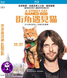 A Street Cat Named Bob 街角遇見貓 Blu-Ray (2016) (Region A) (Hong Kong Version)