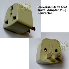 Adaptor Converter Universal EU/UK/ Travel Socket to USA 2-Pin Plug (Accessories)