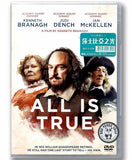 All Is True (2019) 莎士比亞之光 (Region 3 DVD) (Chinese Subtitled)