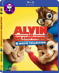 Alvin And The Chipmunks 1-4 Movie Blu-Ray Set 花鼠明星俱樂部1-4電影套裝 (2015) (Region A) (Hong Kong Version) 4 Movie Collection Quadrilogy Boxset