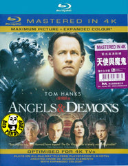 Angels & Demons Blu-Ray (2009) (Region A) (Hong Kong Version) (Mastered in 4K)