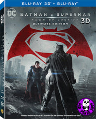Batman V Superman: Dawn Of Justice 蝙蝠俠對超人:正義曙光 2D + 3D Blu-Ray (2016) (Region A) (Hong Kong Version) 3 Discs Edition Lenticular Cover