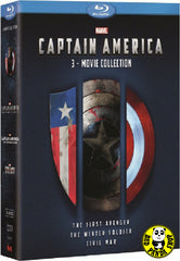 Captain America 1-3 Films 美國隊長1-3套裝 Blu-Ray Boxset (2011-2016) (Region A) (Hong Kong Version) 3 Movie Collection