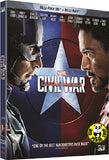 Captain America: Civil War 美國隊長3 : 英雄內戰 2D + 3D Blu-Ray (2016) (Region A) (Hong Kong Version) 2 Disc