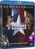 Captain America: Civil War 美國隊長3 : 英雄內戰 3D Blu-Ray (2016) (Region A) (Hong Kong Version)