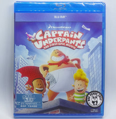 Captain Underpants: The First Epic Movie 底底超人大電影 Blu-Ray (2017) (Region Free) (Hong Kong Version)