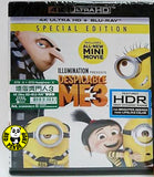 Despicable Me 3 4K UHD + Blu-Ray (2017) 壞蛋獎門人3 (Hong Kong Version) Special Edition