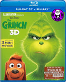Dr. Seuss' The Grinch 聖誕怪怪傑 2D + 3D Blu-Ray (2018) (Region A) (Hong Kong Version)