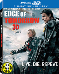 Edge Of Tomorrow Live. Die. Repeat. 異空戰士 2D + 3D Blu-Ray (2014) (Region A) (Hong Kong Version) 2 Disc